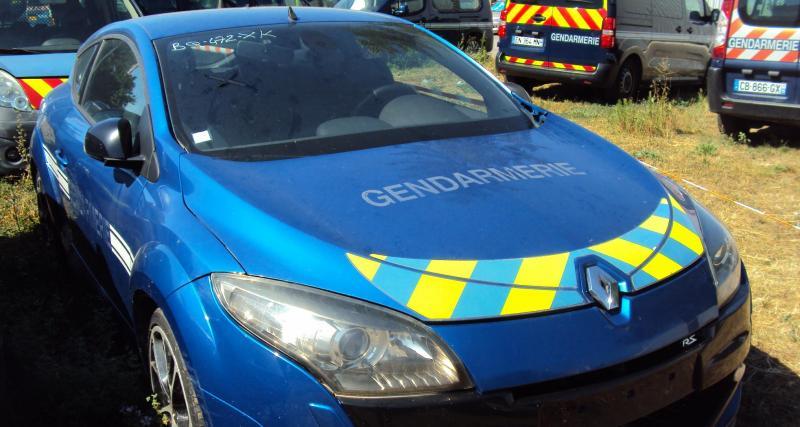 La Renault Mégane 3 RS mise aux enchères par la gendarmerie vendue pour 9.900€