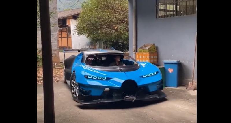 Un mécanicien fabrique une réplique de la Bugatti Vision Gran Turismo avec les moyens du bord (vidéo)