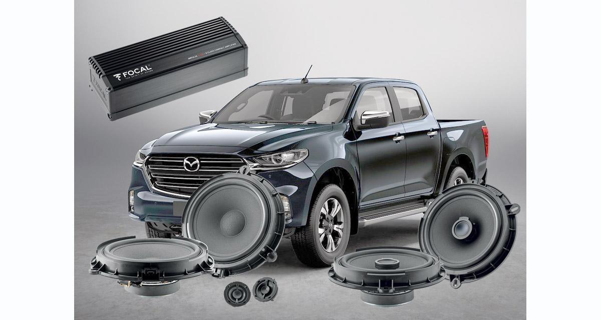 Focal dévoile un pack hi-fi « plug and play » pour le pick-up Mazda BT 50