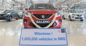 Suzuki : 1 million de véhicules produits en moins de quatre ans par l'usine de Gujarat