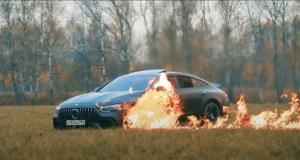 Il met le feu à son Mercedes-AMG GT 63 S volontairement, coup de gueule ou coup de pub ? Une chose est sûre, c'est débile (vidéo)