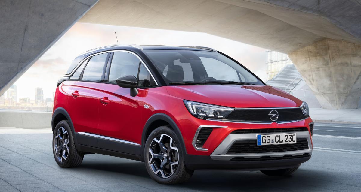 Nouvel Opel Crossland restylé (2021) : les prix du crossover