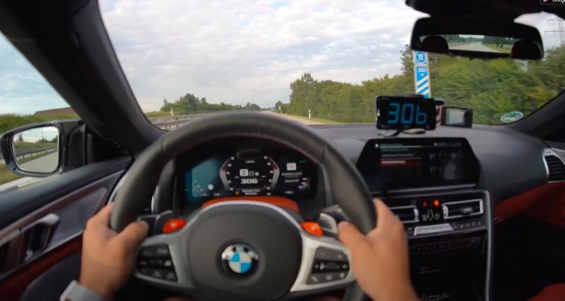 À fond de compteur : la BMW M8 atteint les 310 km/h sur autoroute (vidéo)