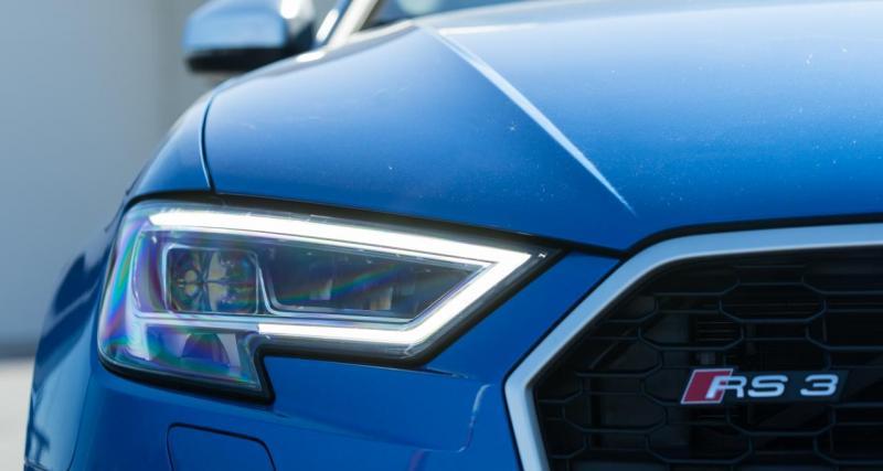 Pris par la patrouille à 235 km/h en Audi RS3 : prune de 1000 € et plus de permis