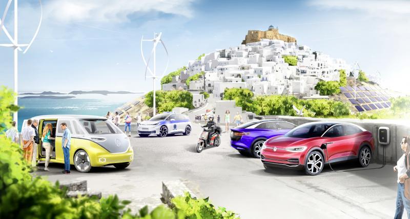 Volkswagen : l'île grecque d'Astypalée bientôt totalement convertie à la voiture électrique