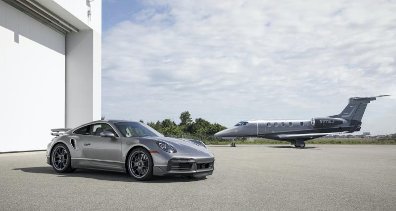 """Porsche 911 Turbo S """"Duet"""" : un jet acheté, une supercar assortie offerte"""