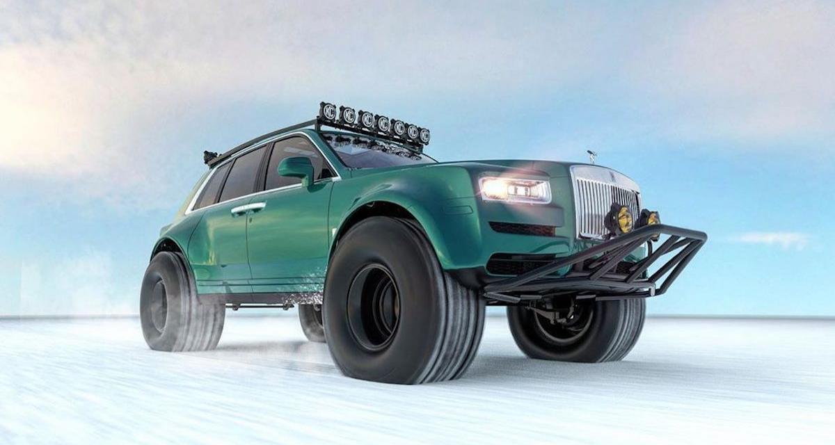 Un Rolls-Royce Cullinan pour affronter le blizzard et la glace