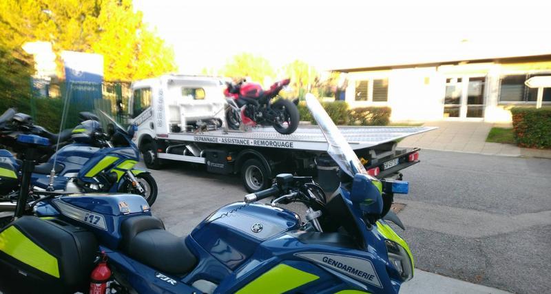 144 km/h en ville, même à moto c'est interdit !