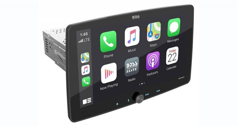 Boss Audio commercialise un autoradio CarPlay avec écran de 10,1 pouces à un prix canon