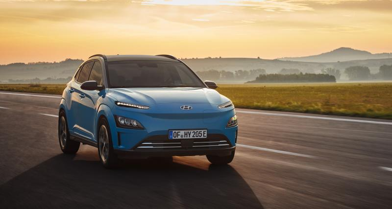 Hyundai Kona Electric (2021) : restylage de surface et progression technologique