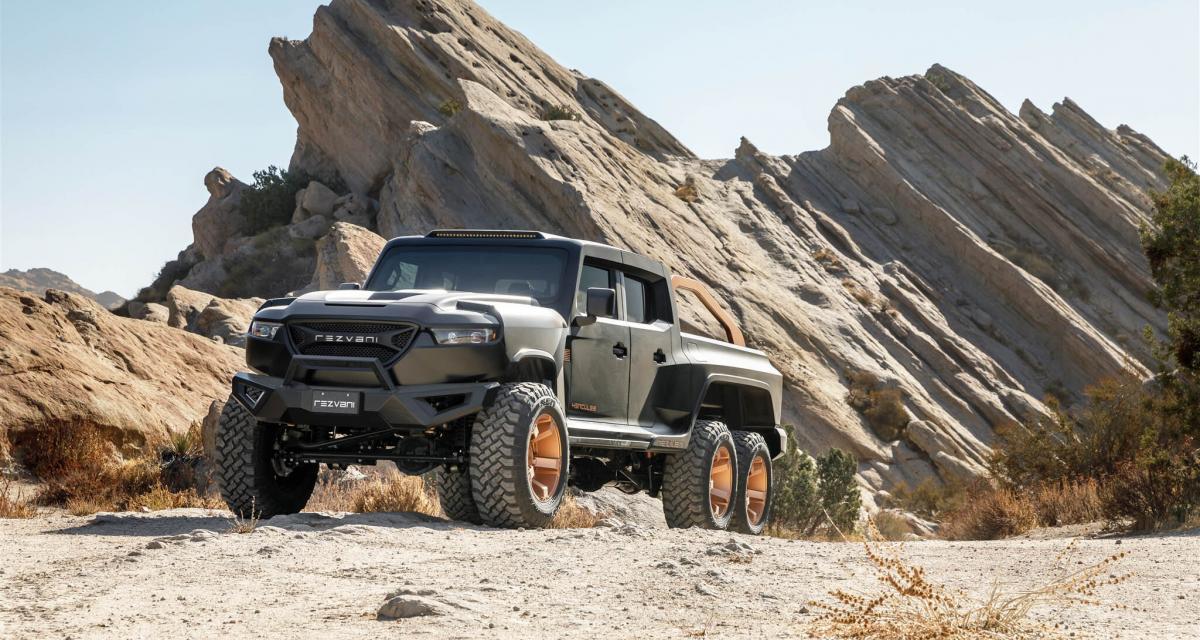 Rezvani Hercules 6x6 : jusqu'à 1 318 ch pour un pick-up tout en finesse…