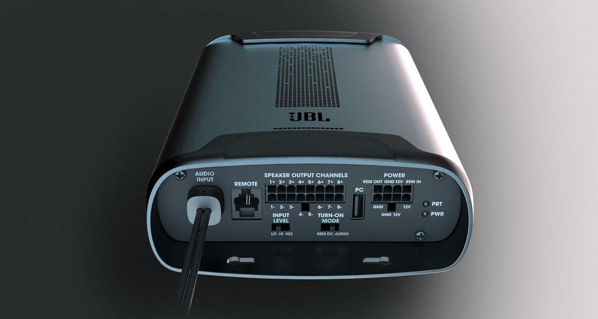 JBL commercialise un mini ampli DSP à 8 canaux