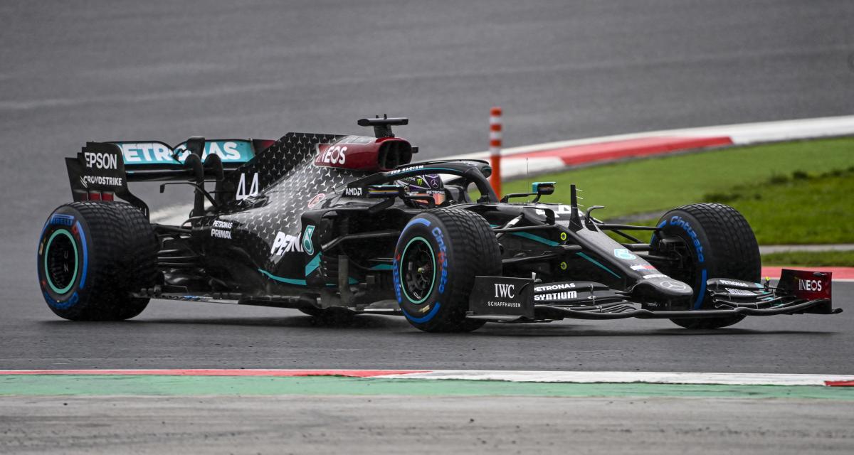 Grand Prix de Turquie de F1 : le dépassement d'Hamilton sur Perez en vidéo