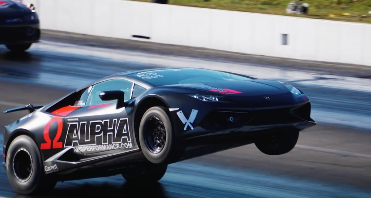 En wheeling grâce à sa Lamborghini Huracan de 1.800 chevaux ! (vidéo)
