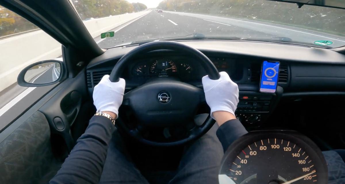 À fond de compteur : cette Opel Vectra de 1997 frôle les 200 km/h sur l'autobahn ! (vidéo)