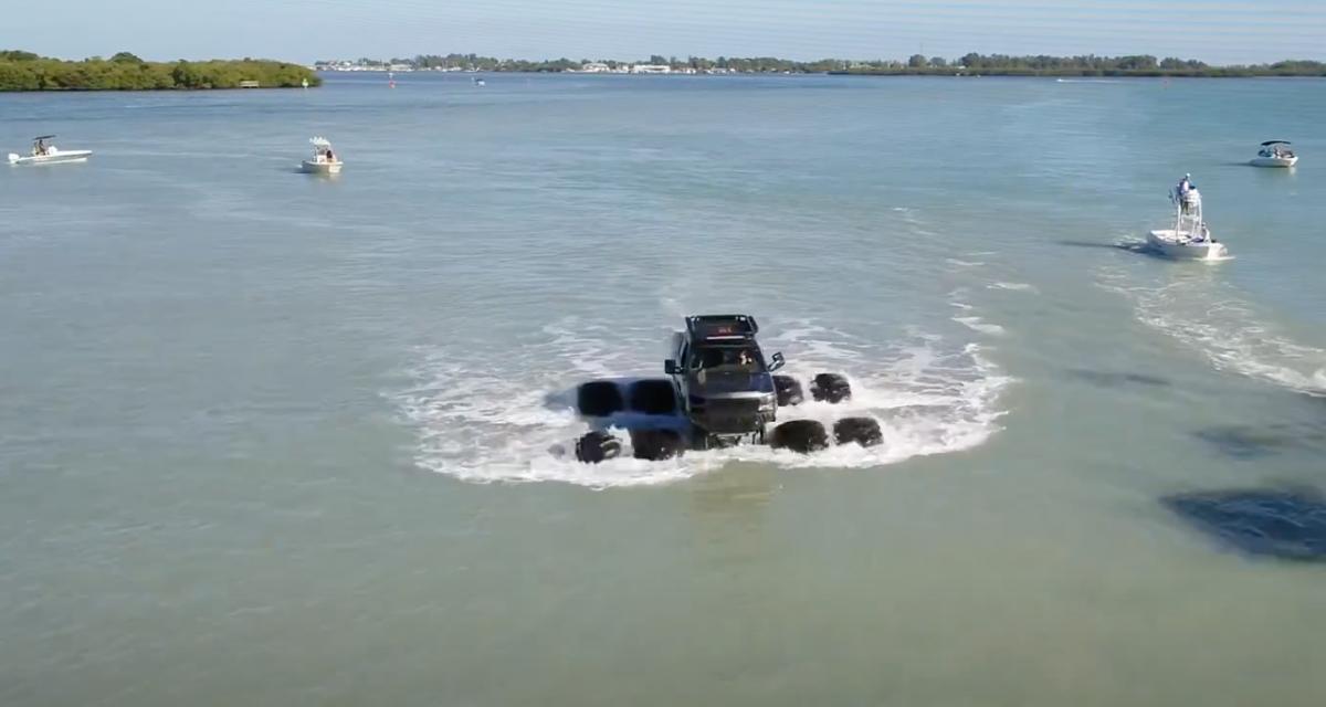 Cet Américain transforme son Chevrolet Silverado en un véritable véhicule aquatique (vidéo)