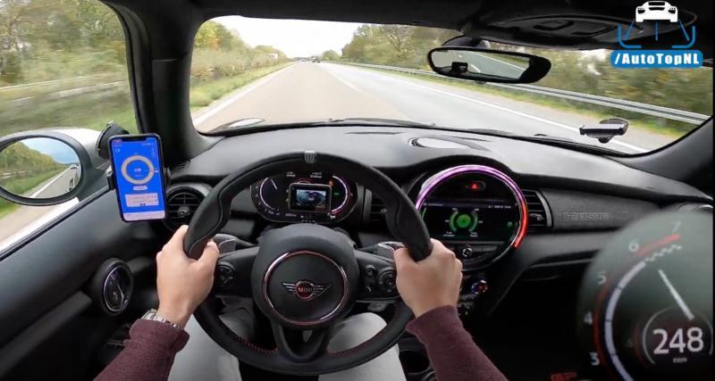 À fond de compteur : il frôle les 250 km/h au volant de sa Mini Cooper GP3 (vidéo)