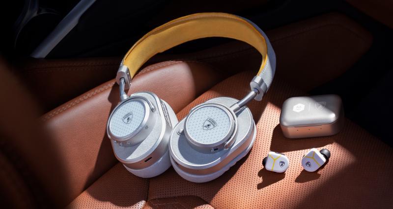 Après les valises ou le textile, Lamborghini propose des casques et écouteurs haut de gamme