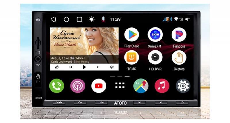 Un autoradio Android double DIN pour les passionnés de high-tech chez Atoto