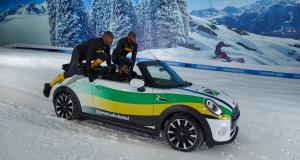 Rasta Rocket le retour : l'équipe jamaïcaine de bobsleigh s'entraîne à pousser une Mini Cooper sur la glace !