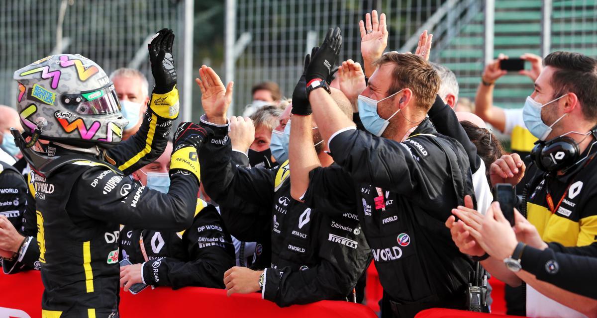 Daniel Ricciardo sur le podium avec Renault = un blaireau pour Cyril Abteboul