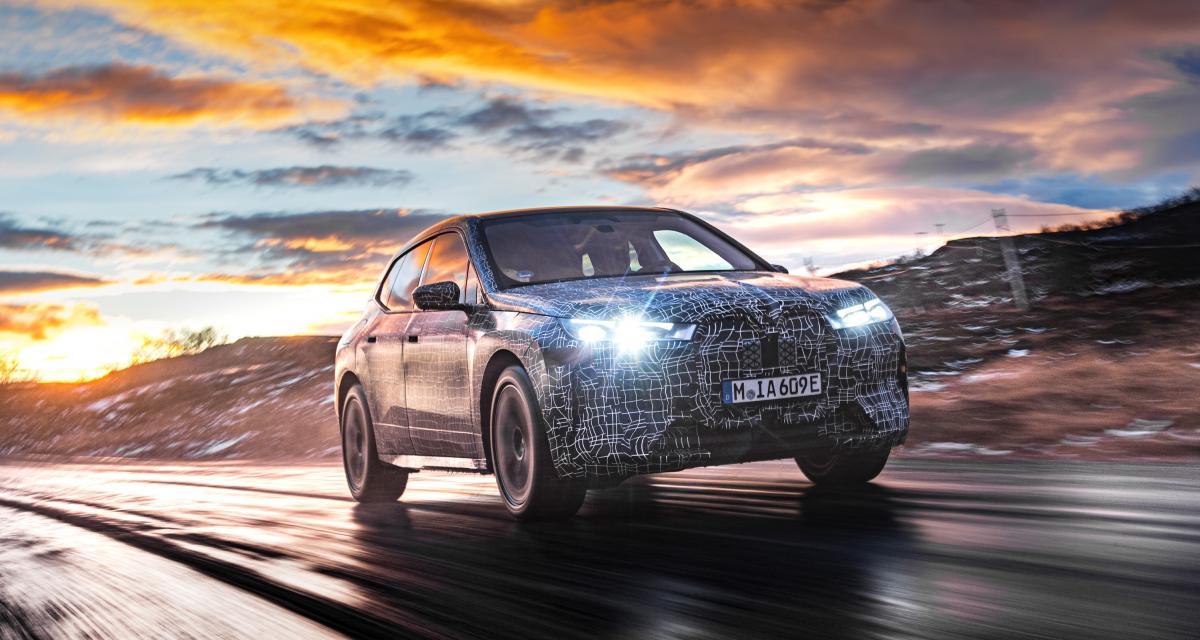 Le futur BMW iX (2021) teste son autonomie dans le froid scandinave
