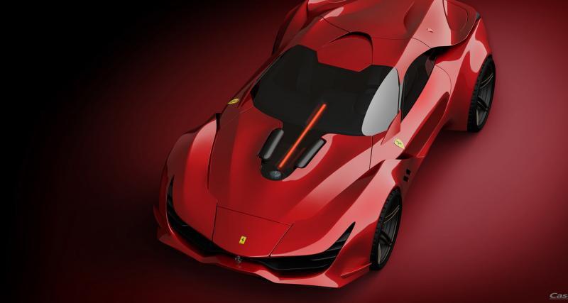 Ferrari CascoRosso : une sportive italienne qui aurait sa place dans Cyberpunk 2077