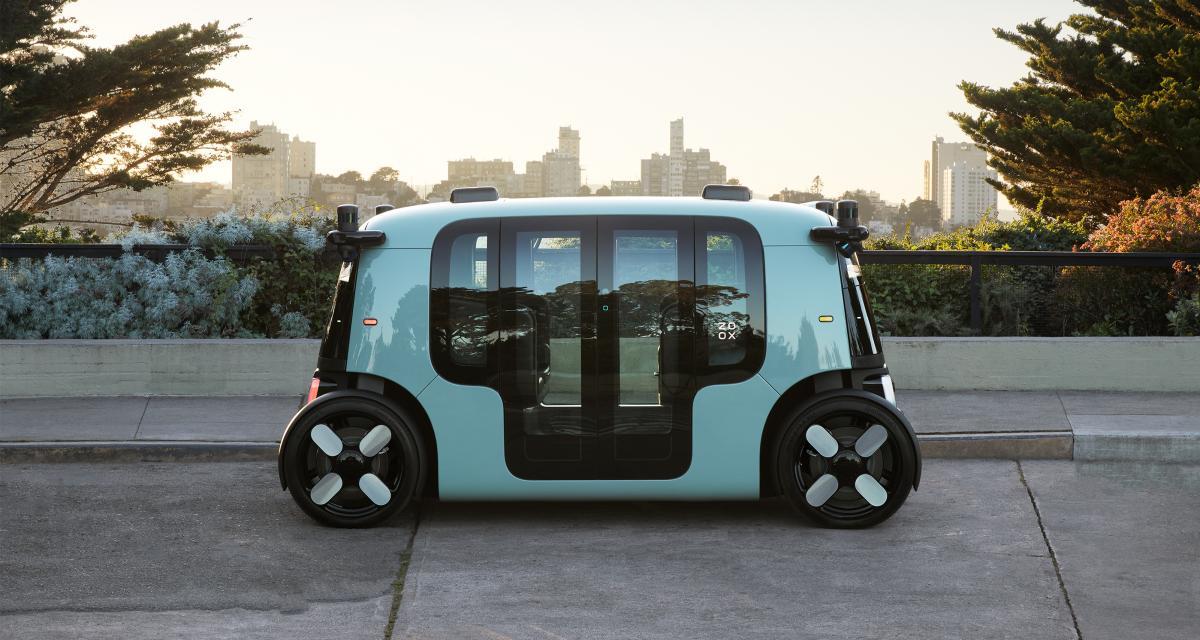 Le taxi autonome Zoox d'Amazon en photo