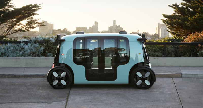 Le taxi autonome Zoox d'Amazon en photo