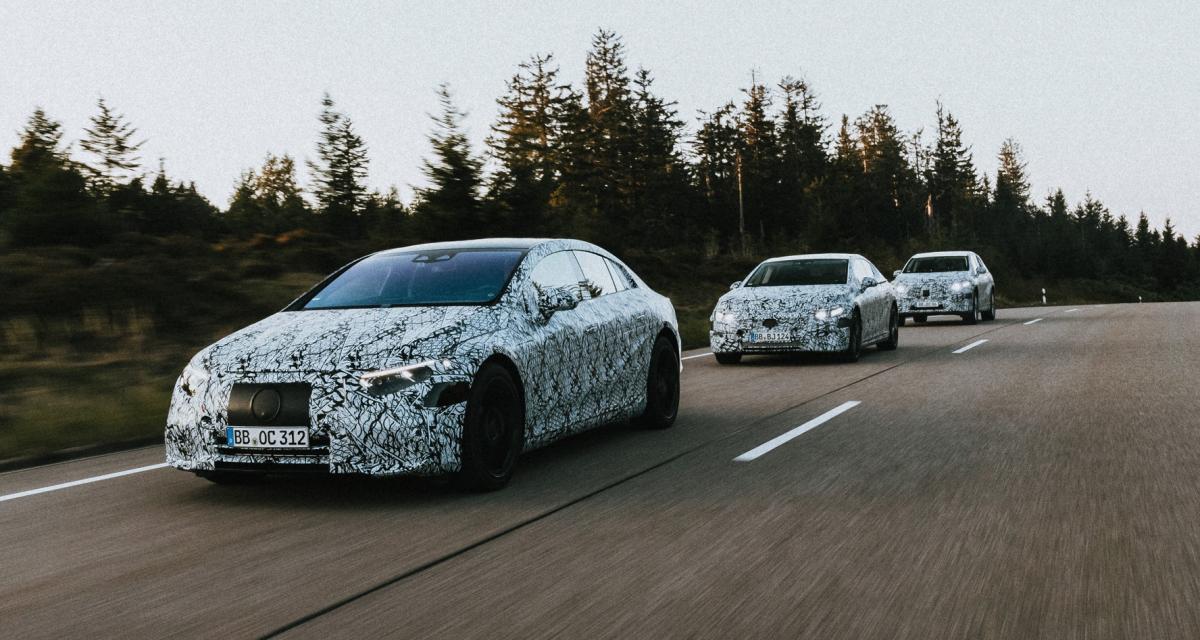 Six modèles électriques pour Mercedes en 2022, les photos en version camouflée