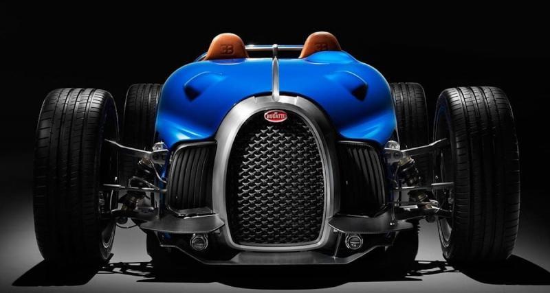 Bugatti 35 Type D : un concept-car inspiré par la mythique voiture bleue