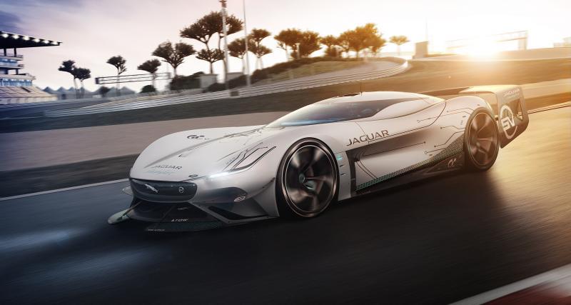 Jaguar Vision Gran Turismo SV : le prototype virtuel 100% électrique de 1900 ch sous toutes les coutures