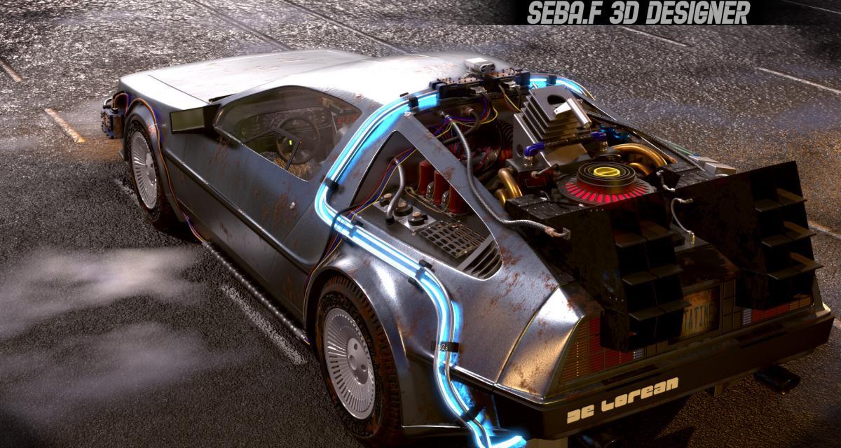 La DeLorean de Retour vers le futur comme vous ne l'avez jamais vue !
