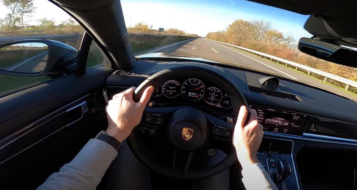 Cette Porsche Panamera Turbo S lâche les chevaux sur l'autoroute, à 318 km/h sur la voie de gauche (vidéo)