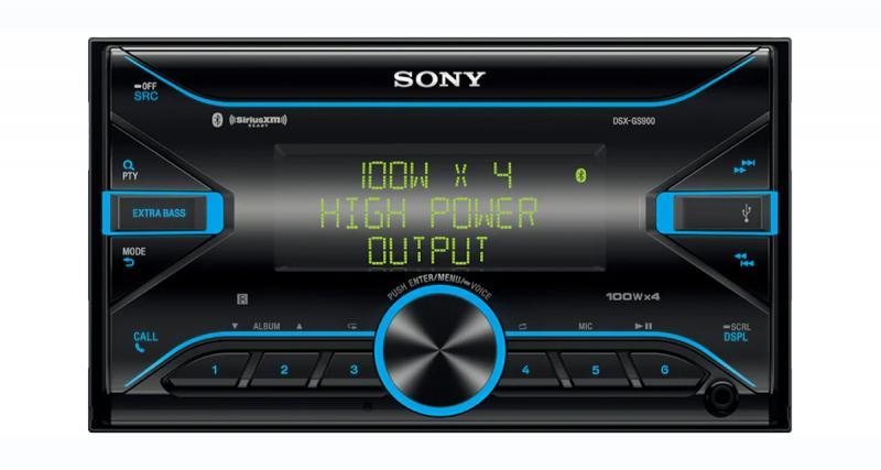 Un autoradio 2 DIN avec un puissant ampli Classe D chez Sony