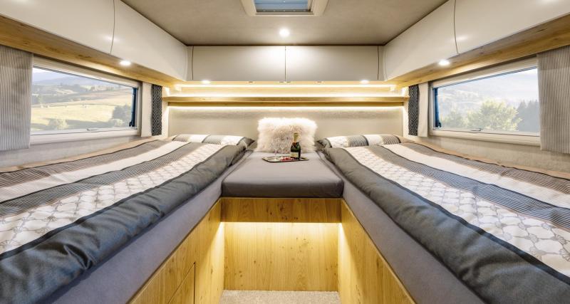 Deux lits simples : bizarre...