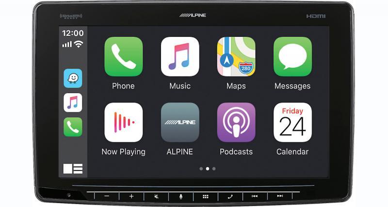 Alpine-Electronics présente un autoradio CarPlay avec écran de 11 pouces