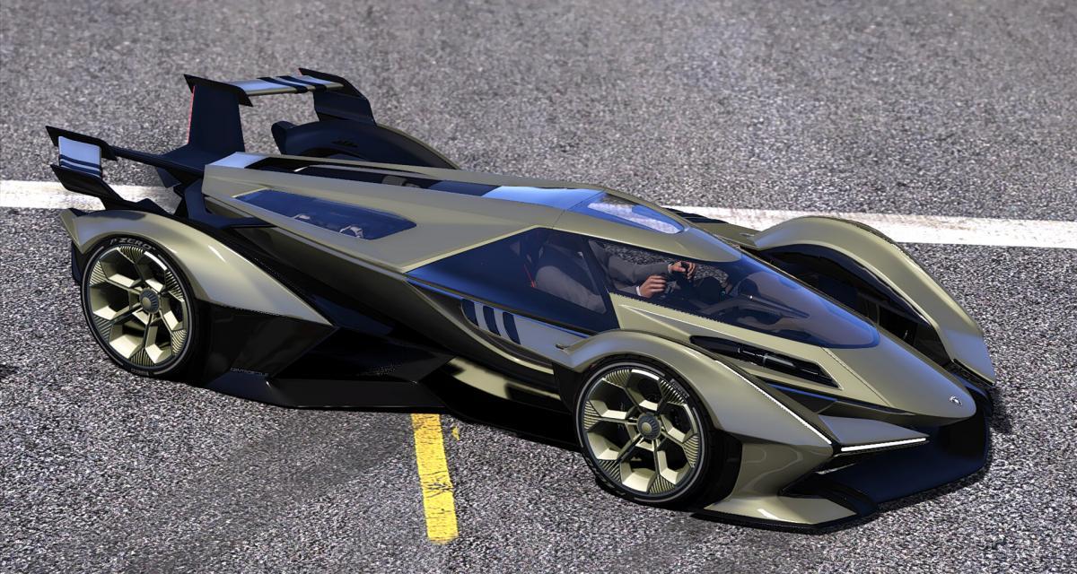 Le prototype Lamborghini V12 Vision GT 2020 moddé par un gamer pour GTA 5