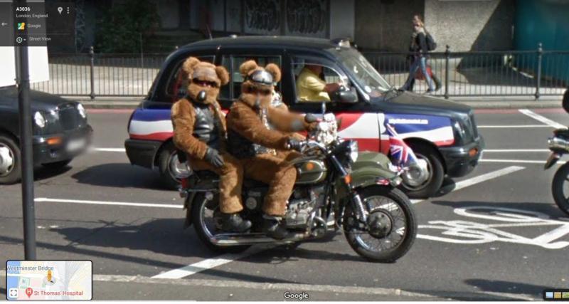 5. Des motards un peu spéciaux en plein centre de Londres