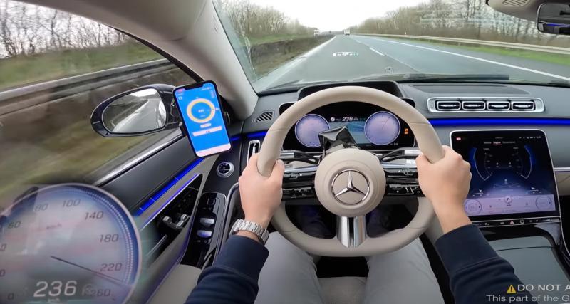 VIDEO. La nouvelle Mercedes Classe S allie luxe et puissance sur l'autoroute allemande
