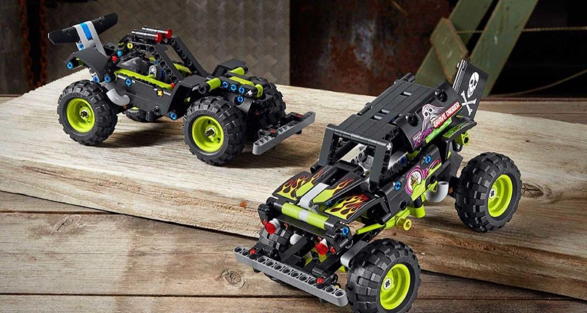 Les Monster Trucks Grave Digger et Max-D déclinés en Lego Technic