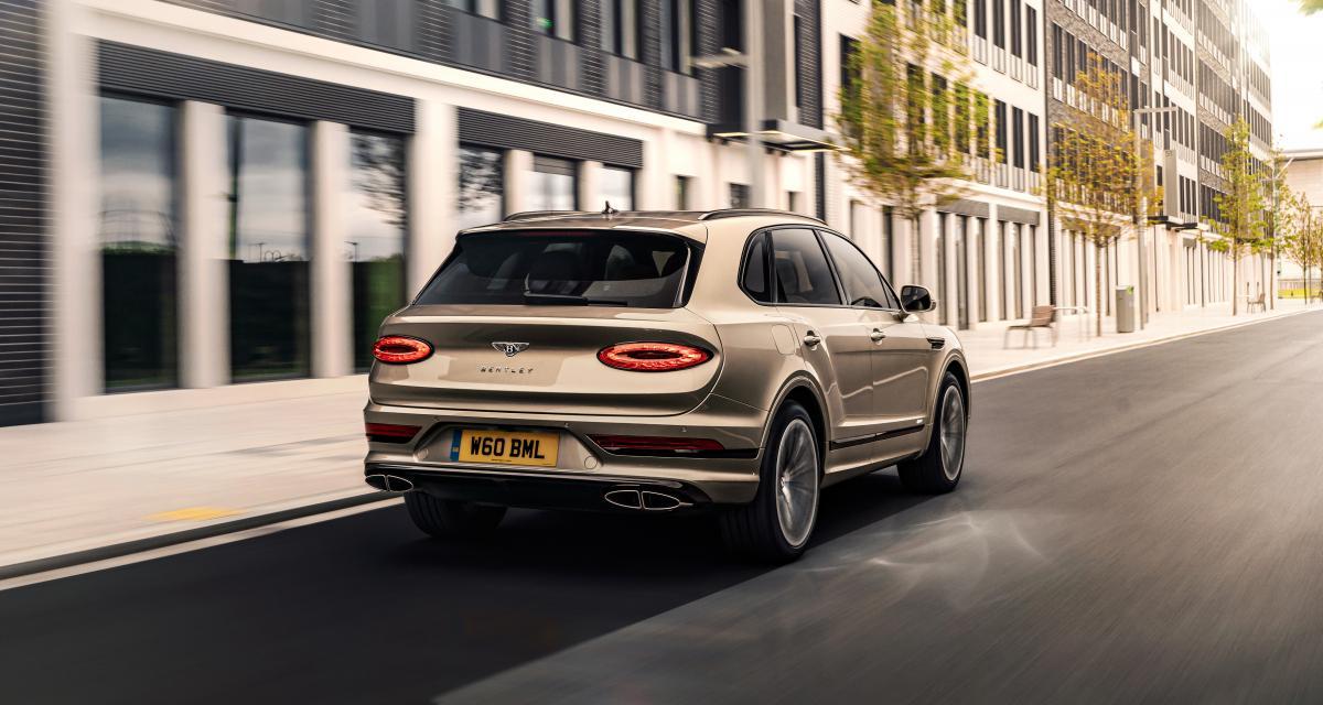 Bentley Bentayga Hybrid restylé (2021) : jusqu'à 50 km d'autonomie en full électrique