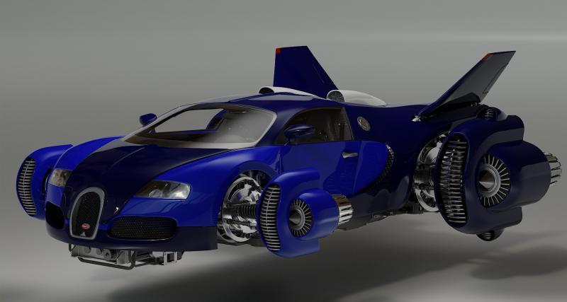 PHOTOS. Bugatti Spacester ou comment la Veyron devient une voiture volante