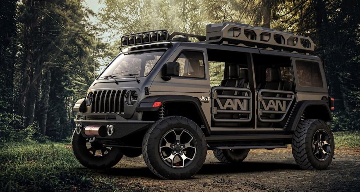 "Jeep ""Vangler"" : l'iconique Wrangler transformé en van de loisirs tout-terrain"