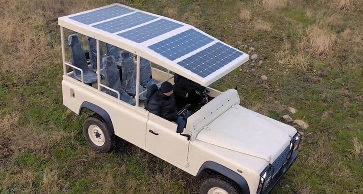 Un Land Rover Defender converti en véhicule de safari écolo par Sunreef Yachts