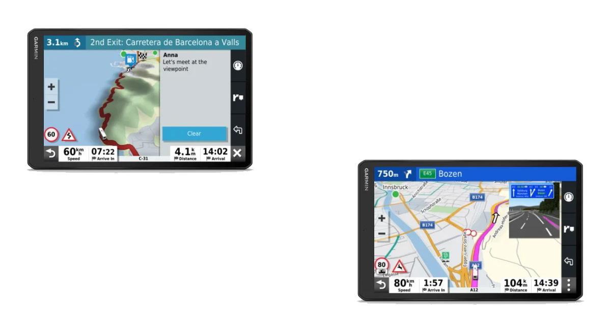 Un navigateur portable avec services connectés pour les camping-cars chez Garmin