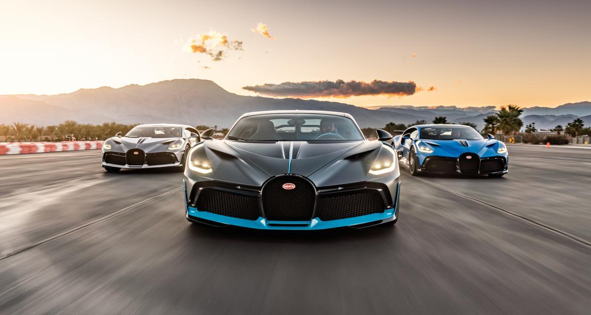 VIDEO - 3 Bugatti Divo paradent sous le soleil californien, on en prend plein les yeux