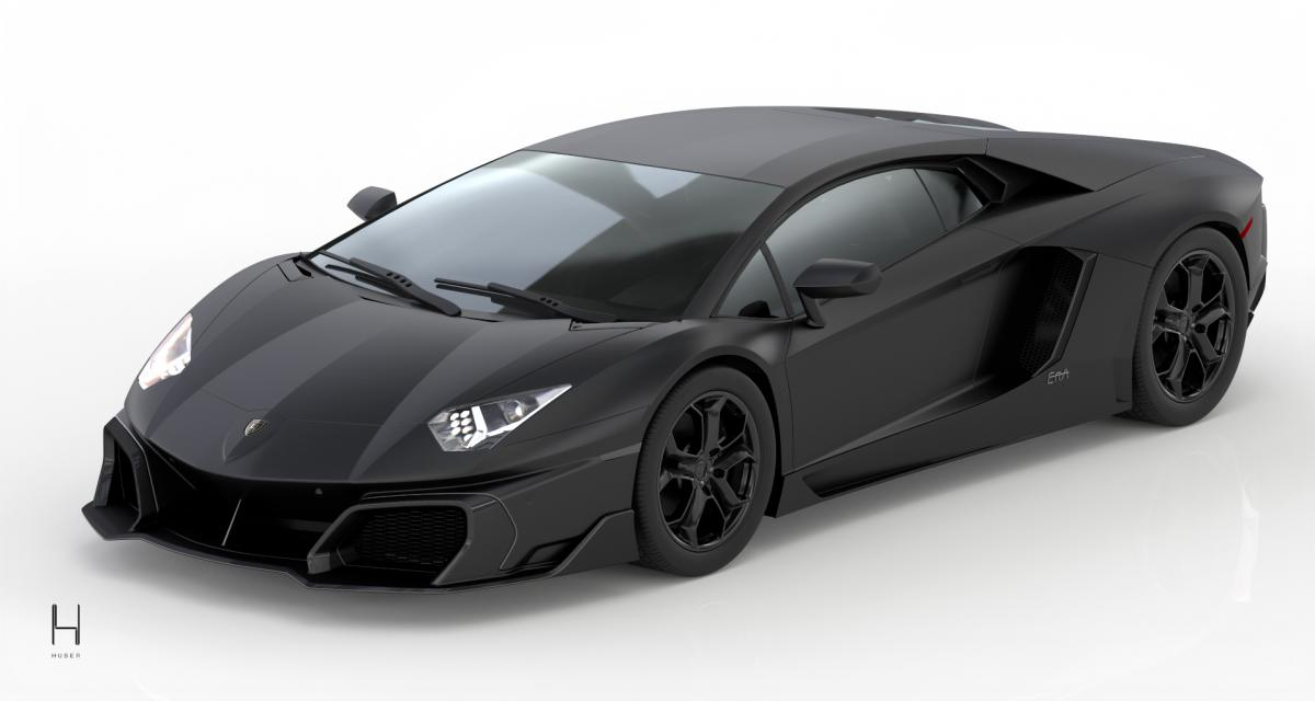 Huber propose un restylage full carbone pour la Lamborghini Aventador