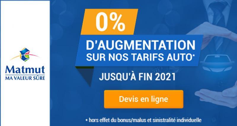 0% d'augmentation sur les tarifs auto en 2021*