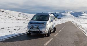 Nissan transforme son e-NV200 en camping-car pour l'hiver
